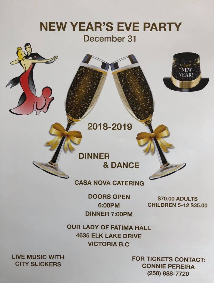 Our Lady of Fatima Parish in Victoria, New Year's Eve Party in Victoria