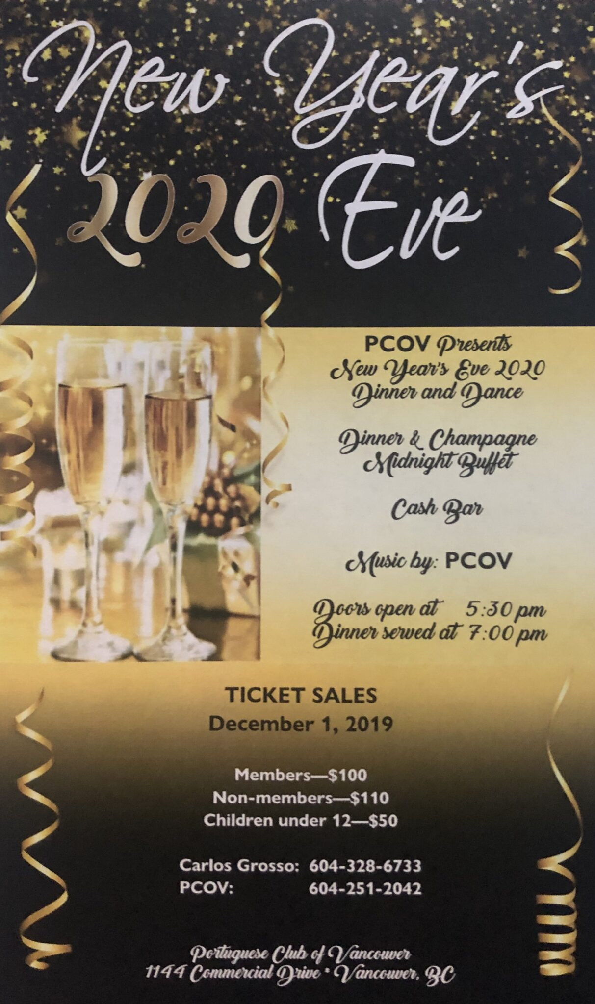 New Year's Party at PCOV