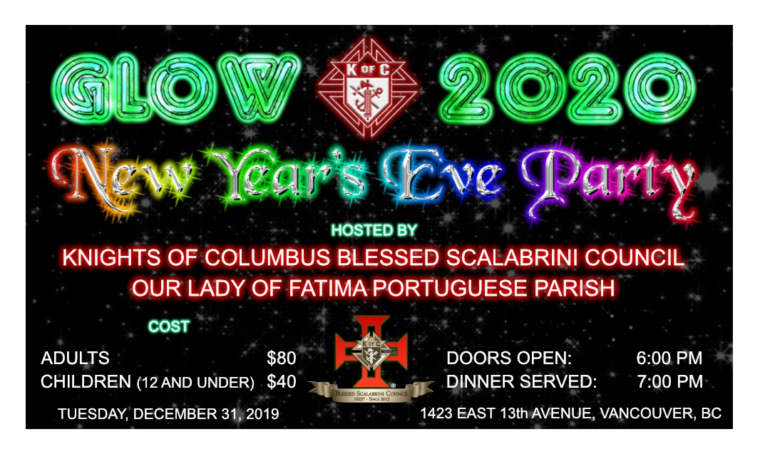 Knights of Columbus New Year's Eve Dinner Ticket