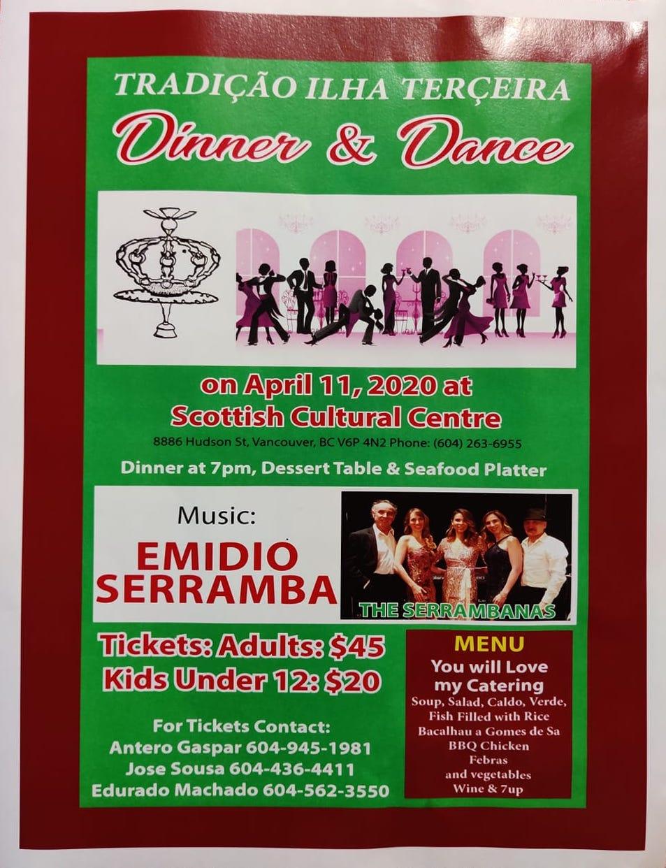 Tradição da Ilha Terceira Dinner & Dance